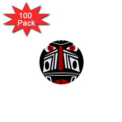 African red mask 1  Mini Buttons (100 pack)