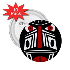 African red mask 2.25  Buttons (10 pack)