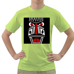 African red mask Green T-Shirt
