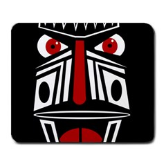 African red mask Large Mousepads