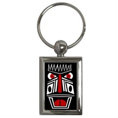African red mask Key Chains (Rectangle)