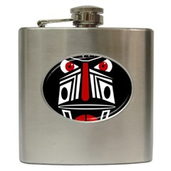 African red mask Hip Flask (6 oz)