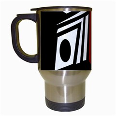 African red mask Travel Mugs (White)