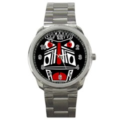 African red mask Sport Metal Watch