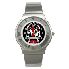 African red mask Stainless Steel Watch