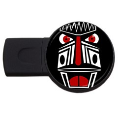 African red mask USB Flash Drive Round (4 GB)