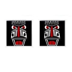 African red mask Cufflinks (Square)