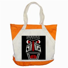 African Red Mask Accent Tote Bag