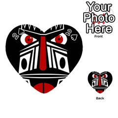 African red mask Playing Cards 54 (Heart)