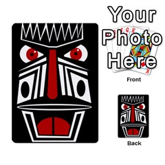 African red mask Multi-purpose Cards (Rectangle)