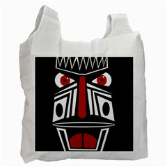 African red mask Recycle Bag (One Side)
