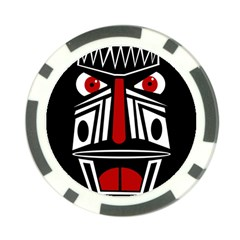 African red mask Poker Chip Card Guards (10 pack)