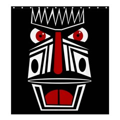 African red mask Shower Curtain 66  x 72  (Large)