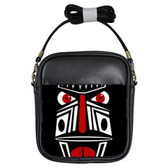 African red mask Girls Sling Bags