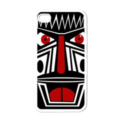African red mask Apple iPhone 4 Case (White)
