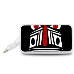 African red mask Portable Speaker (White)