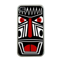 African red mask Apple iPhone 4 Case (Clear)