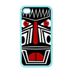 African red mask Apple iPhone 4 Case (Color)
