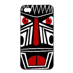African red mask Apple iPhone 4/4s Seamless Case (Black)