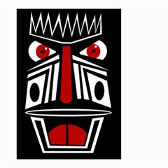 African red mask Small Garden Flag (Two Sides)
