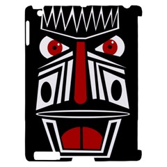African red mask Apple iPad 2 Hardshell Case (Compatible with Smart Cover)