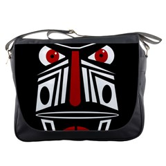 African red mask Messenger Bags