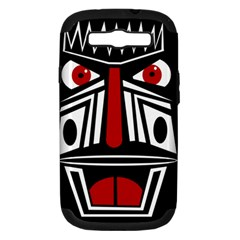 African red mask Samsung Galaxy S III Hardshell Case (PC+Silicone)