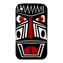 African red mask Apple iPhone 3G/3GS Hardshell Case (PC+Silicone)