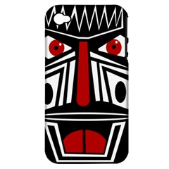 African red mask Apple iPhone 4/4S Hardshell Case (PC+Silicone)