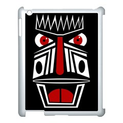 African red mask Apple iPad 3/4 Case (White)
