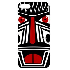 African red mask Apple iPhone 5 Hardshell Case with Stand