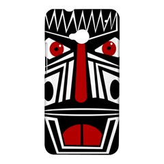 African red mask HTC One M7 Hardshell Case