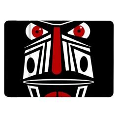 African red mask Samsung Galaxy Tab 8.9  P7300 Flip Case