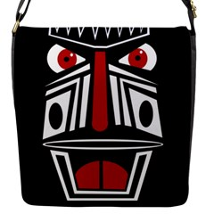 African red mask Flap Messenger Bag (S)