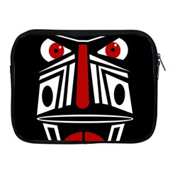 African red mask Apple iPad 2/3/4 Zipper Cases
