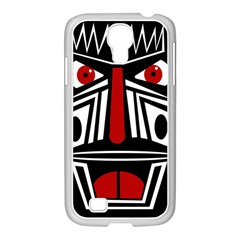 African red mask Samsung GALAXY S4 I9500/ I9505 Case (White)