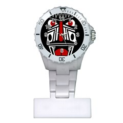 African red mask Plastic Nurses Watch