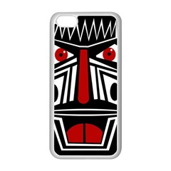 African red mask Apple iPhone 5C Seamless Case (White)