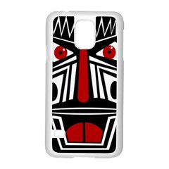 African red mask Samsung Galaxy S5 Case (White)