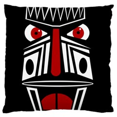 African red mask Large Flano Cushion Case (Two Sides)