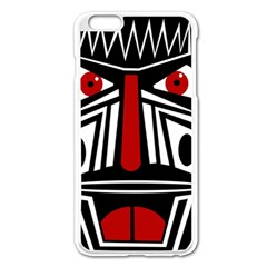 African red mask Apple iPhone 6 Plus/6S Plus Enamel White Case