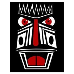 African red mask Drawstring Bag (Large)