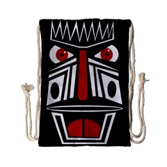 African red mask Drawstring Bag (Small)