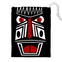 African red mask Drawstring Pouches (XXL)