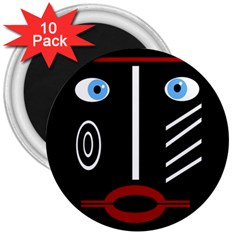 Decorative mask 3  Magnets (10 pack)
