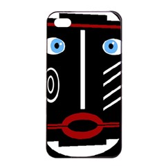Decorative mask Apple iPhone 4/4s Seamless Case (Black)