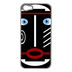 Decorative mask Apple iPhone 5 Case (Silver)