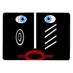 Decorative mask Samsung Galaxy Tab 10.1  P7500 Flip Case
