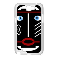 Decorative mask Samsung Galaxy Note 2 Case (White)