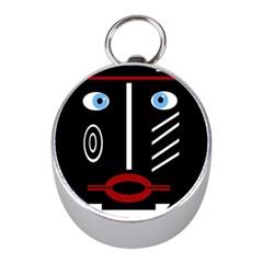 Decorative mask Mini Silver Compasses